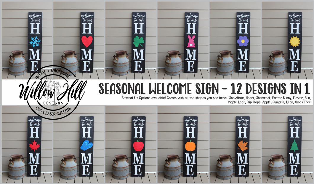 Seasonal Welcome Signs - Regular Shape Options (Single shape orders).