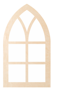 "Window - Square Cathedral Pattern ""Rose"""
