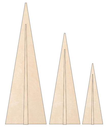 Christmas Trees - Triangle 3-D