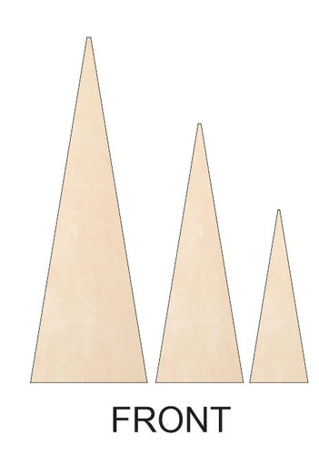 Christmas Trees - Triangle with Separate Stand