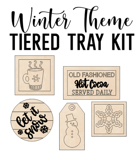 Winter Theme - Tiered Tray Kit