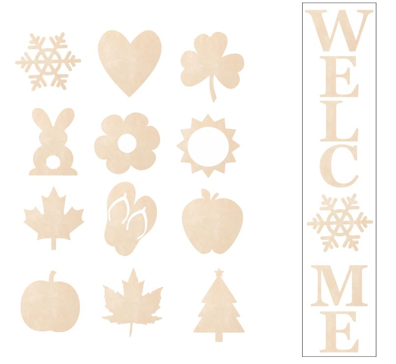 Interchangeable Welcome Signs - Full and Partial Kits