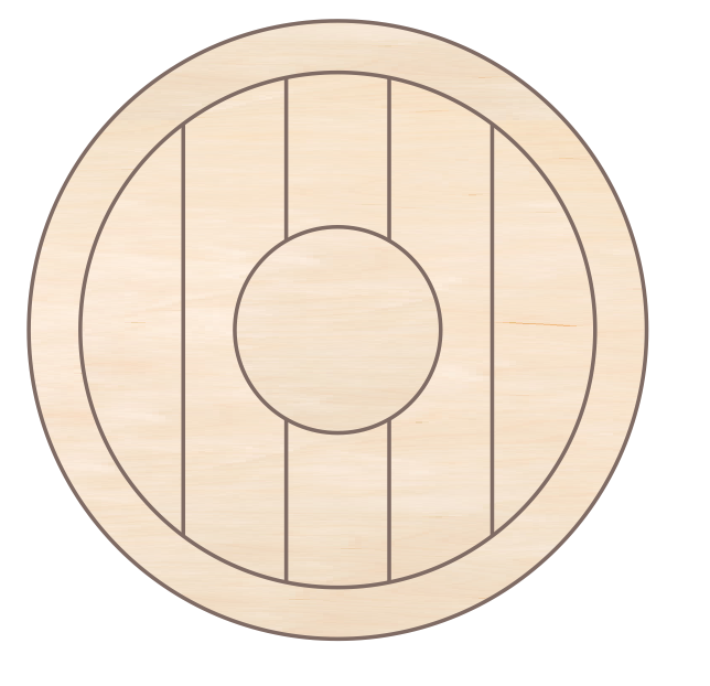 Clock Round - Centre Circle Design