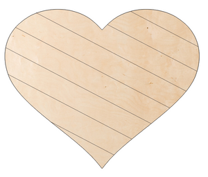 Heart with Diagonal Pallet Lines and 'love' overaly