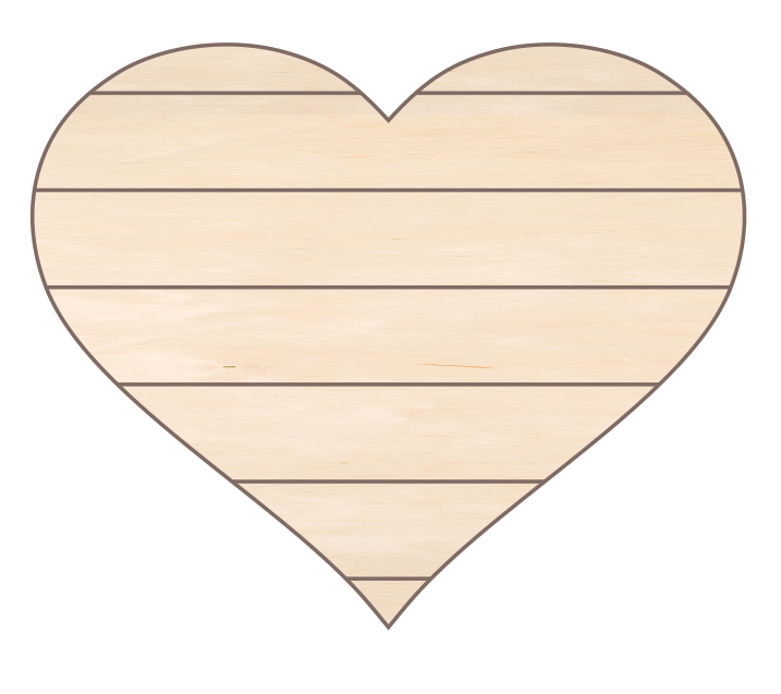 Heart 1 with Horizontal Pallet Lines (22x18