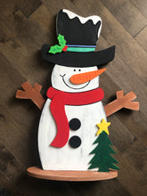 Load image into Gallery viewer, Standing Snowman
