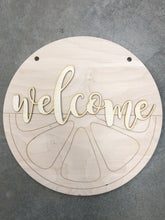 Load image into Gallery viewer, Lemon-Lime Door Hanger - Welcome