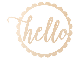 Scalloped Circle - Hello