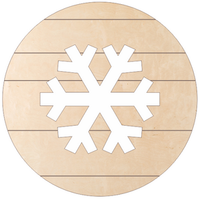 "Snowflake Medallion (18"" Pallet Circle with Snowflake Cutout)"
