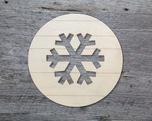 "Load image into Gallery viewer, Snowflake Medallion (18"" Pallet Circle with Snowflake Cutout)"