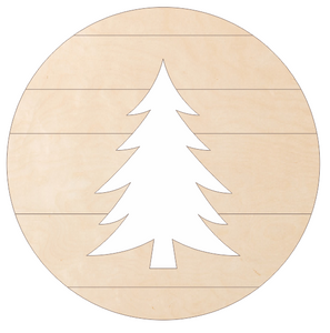 "Tree Medallion (18"" Pallet Circle with Tree Cutout)"