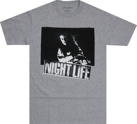 NIGHT LIFE T-SHIRT (GREY)