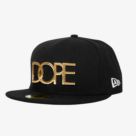 Dope 24K Logo New Era Black Fitted Hat