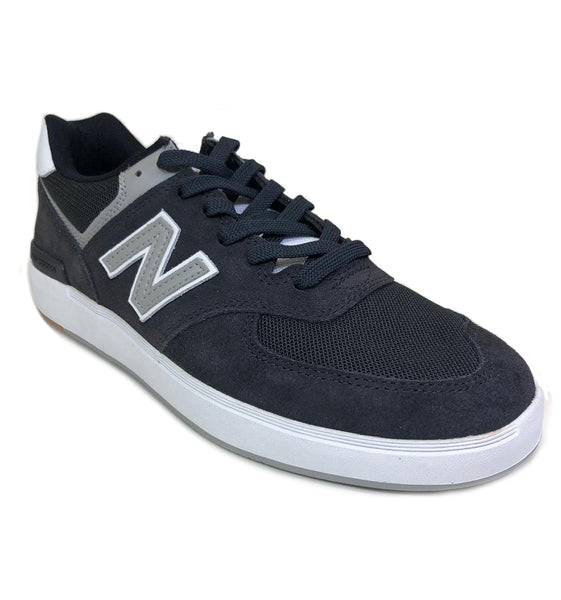 New Balance AM574  Black Phantom Grey Suede Shoes