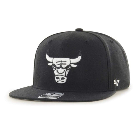 47 Brand Chicago Bulls No Shot Black Snapback Hat