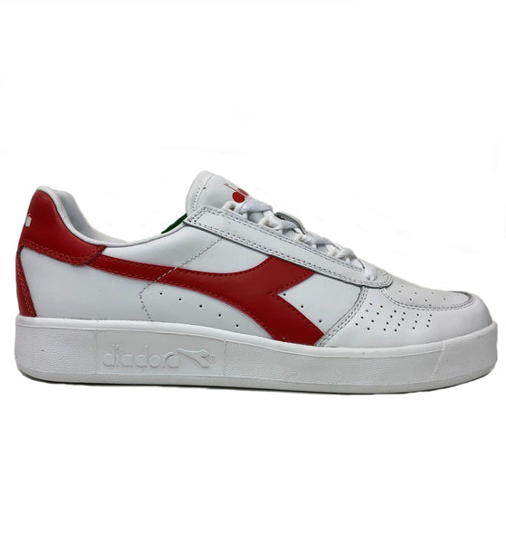 Diadora B Elite White Red Sneaker Shoes