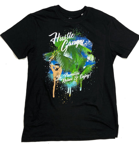 Hustle Gang Vacation Black T-Shirt