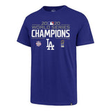 47 Brand Los Angeles Dodgers 2020 World Series Champions Blue Super Rival T-Shirt