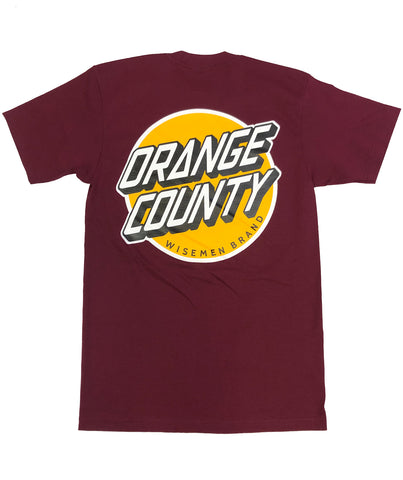 Wisemen Orange County Cruz Burgundy T-Shirt