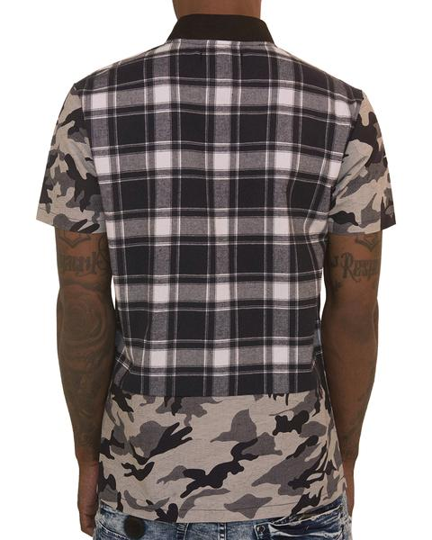 The Hideout Clothing Plaid Camouflage Navy T-Shirt