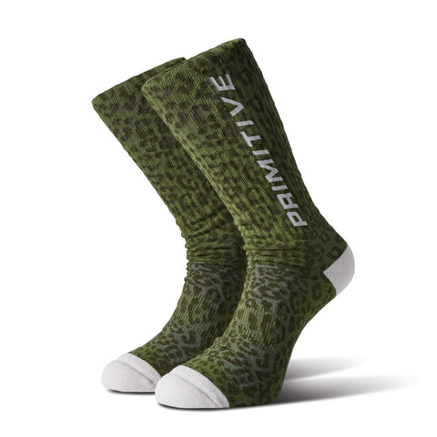 Primitive Prowler Green Crew Sock