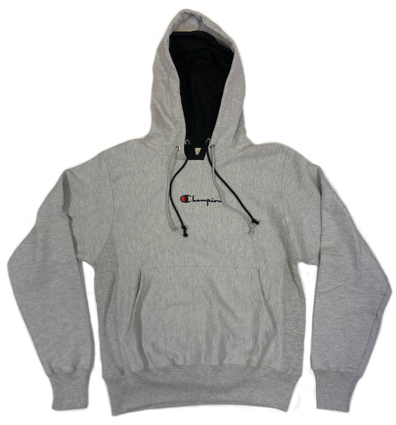 Champion Reverse Weave Double Hood Pullover Hoodie in Grey