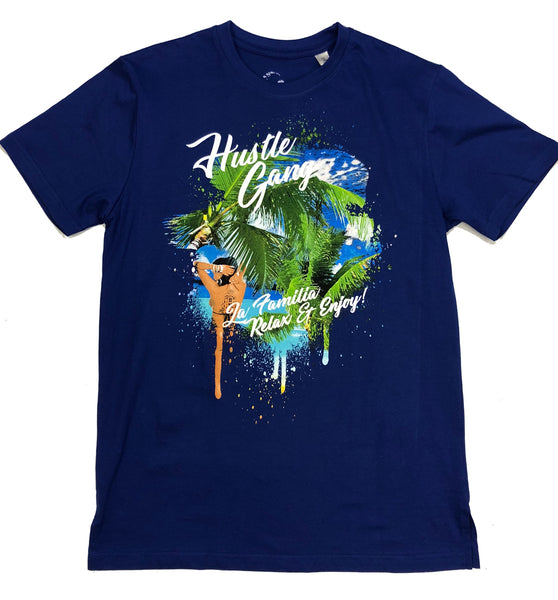 Hustle Gang Vacation Blue T-Shirt