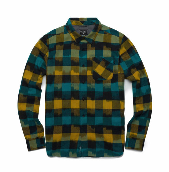 Primitive Buffalo Ikat Multi-Color L/S Flannel