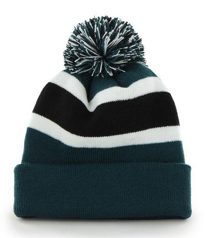 47 Brand Philadelphia Eagles Breakaway Green Cuff Knit Beanie