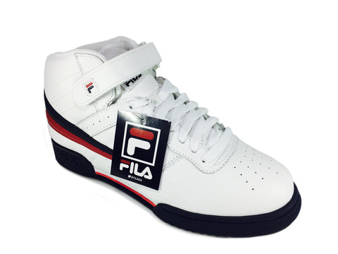 Fila F-13 Mid-Top Sneakers in White