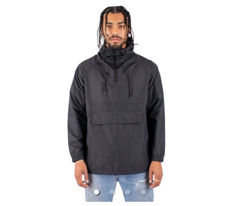 Shaka Wear Anorak Windbreaker Black Jacket