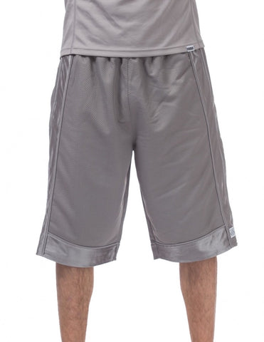 Pro Club Heavyweight Mesh Basketball Grey Shorts