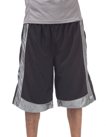 Pro Club Heavyweight Mesh Basketball Black/Grey Shorts