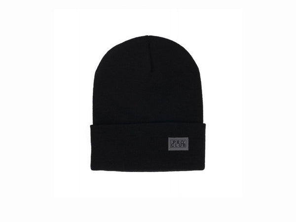 Pro Club Black Cuffed Beanie