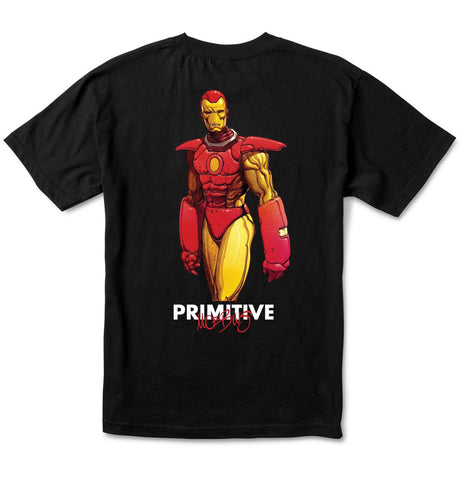 Primitive x Moebius x Marvel Iron Man Black T-Shirt