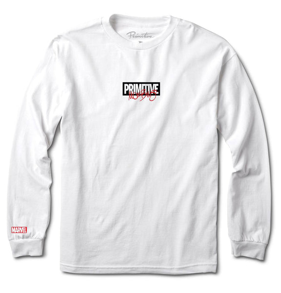 Primitive x Moebius x Marvel Iron Man White Longsleeve T-Shirt