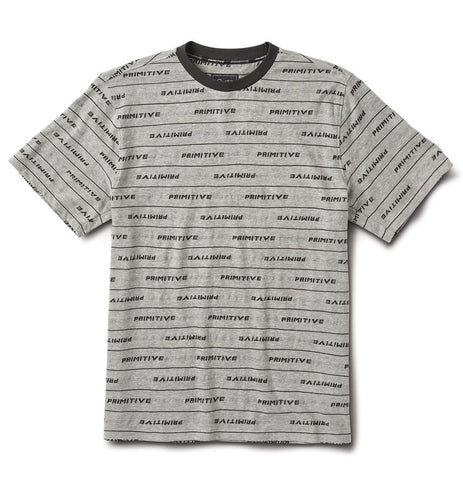 Primitive Morris Grey Knit T-Shirt