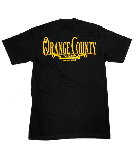Wisemen Orange County Plaque Black T-Shirt
