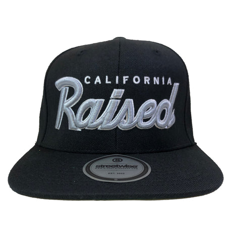 Streetwise Gear California Raised Black Snapback Hat