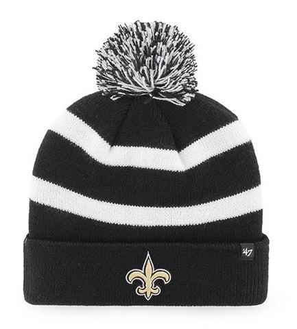 47 Brand New Orleans Saints Breakaway Black Cuff Knit Beanie