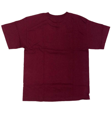 Grizzly Griptape Stamp Burgundy Youth T-Shirt