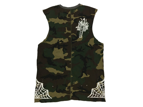 Civil Regime No Control Over Sized Camo Muscle T-Shirt
