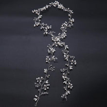 Crystal and Pearl Hair Garland-Your Wedding Veil Store
