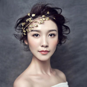 Gold Leaf Spray Headpiece-Your Wedding Veil Store