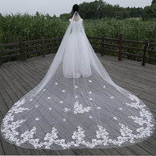 Embroidered Applique Cathedral Veil