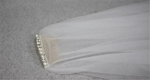 Drop Veil with Crystal Beaded Headband