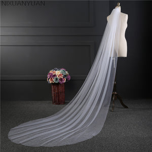 Long Sheer Voile Veil