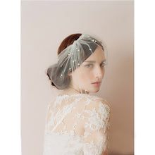 Tulle Blusher veil with Pearls