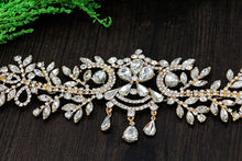 Rhinestone Leaf Headband-Your Wedding Veil Store