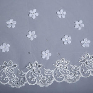 Scattered Flowers Cathedral Veil-Your Wedding Veil Store